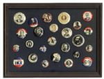 Ray Bradbury Personally Owned Collection of 25 Presidential Pins