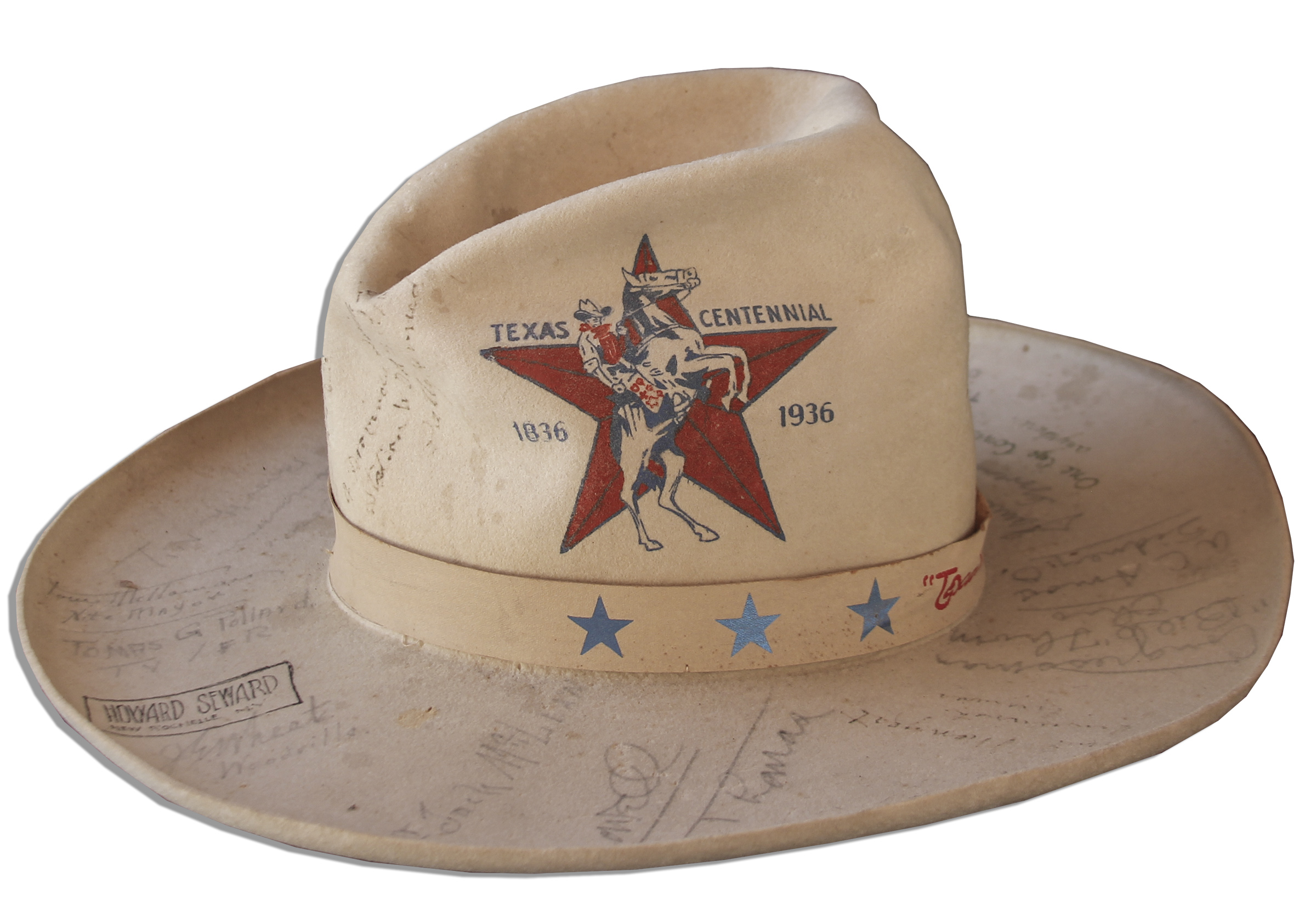... Texas Centennial Hat Signed by a Plethora of Democratic Politicians    Other Public Figures - ... 61bcac1cc2c