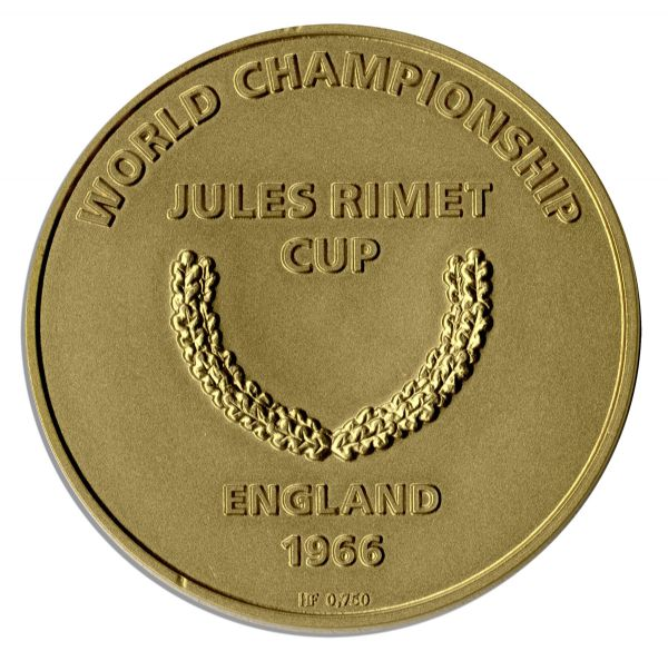 Gold Medal for the 1966 World Cup -- Issued to England Trainer Harold Shepherdson -- Scarce