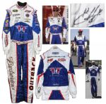 Kevin Harvick Race-Worn & Signed Suit From the NASCAR Sprint Cup Series Toyota/Save Mart 350 Race in 2014