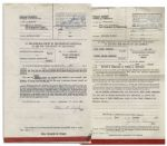 Mary Astor Divorce Certificate From Her Marriage to Thomas Gordon Wheelock