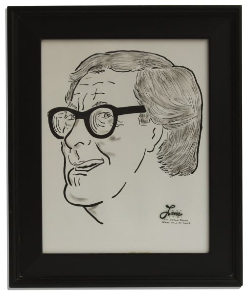 Ray Bradbury's Personally Owned Portrait by Jack Lane -- From the ''Hollywood Brown Derby Wall of Fame''