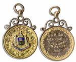 Early F.A. Challenge Cup Gold Medal -- Issued to Famed Sheffield United Footballer Ernest Needham -- From the 1923-1924 Season