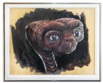 Painting of E.T. by His Creator, Special Effects Artist Carlo Rambaldi -- Rambaldi Won an Oscar for E.T.