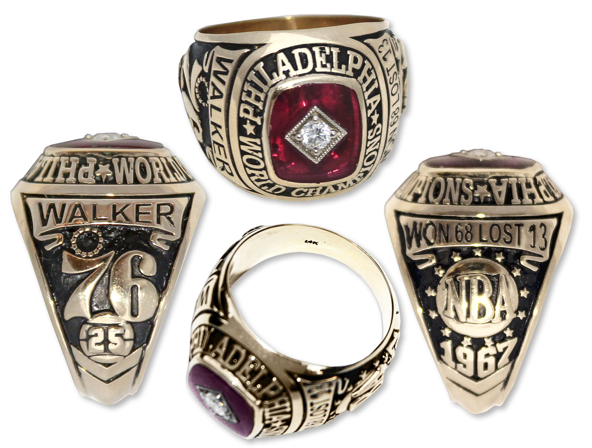 Lot Detail Chet The Jet Walker s NBA Championship Ring From 1967
