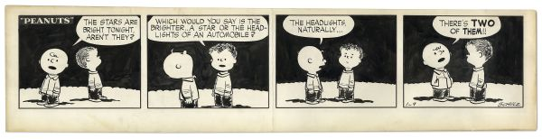 1954 ''Peanuts'' Comic Strip Featuring Charlie Brown & Shermy