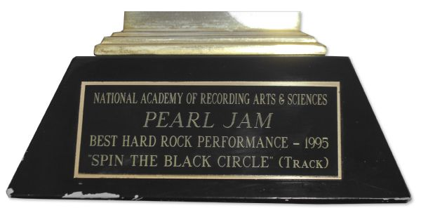 Grammy Award Given to Rock Group Pearl Jam in 1995 -- Award for Best Hard Rock Performance -- Only Grammy That Pearl Jam Ever Won