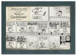 Red Baron Peanuts Sunday Comic Strip -- Appeared on New Years Day 1967 -- Snoopy Confronts His Nemesis The Red Baron