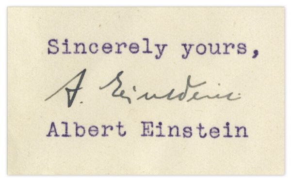 Albert Einstein Typed Letter Signed From 1939 -- Defending His Jewish Heritage -- ''...The power of resistance which has enabled the Jewish people to survive for thousands of years...''