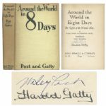 Wiley Post & Harold Gatty Signed First Edition of Around the World in 8 Days