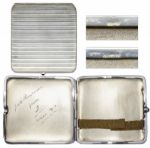 Prince Edward VIII Silver Cigarette Case -- Given to a Friend in 1913, With Engraving in Edwards Hand