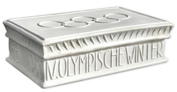 Porcelain Box Given to Participants of the 1936 Winter Olympics -- Manufactured by The Nymphenburg Porcelain Company