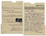Concentration Camp Victim at Ravensbrueck Writes to His Parents -- ...How are you? Same old, same old here and everything in order. I wish Merry Christmas and send you kisses...