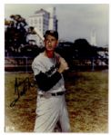 Ted Williams Glossy 8 x 10 Signed Photo -- Near Fine