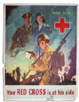 WWII American Red Cross Poster by Jes Schlaikjer