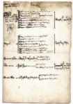 King Henry VII Signs & Annotates an Accounting of Real Estate Confiscated From His Knights -- Evidence of the Property Taking for Which Henry VII Was Known