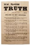 Irish Civil War Broadside Issued by Michael Collins Free State Side -- ...Fighting the Irish nation is not fighting the British Empire... -- July 1922