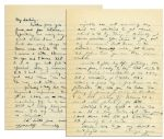 Dwight Eisenhower Autograph Letter Signed During WWII -- ...Yesterday and today have been hard ones on me...I get so I have no thought except crawling off in a corner + keeping still...