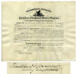 Franklin D. Roosevelt WWI Document Signed as Secretary of the Navy