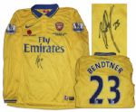 Arsenal Football Shirt Match-Worn and Signed by Nicklas Bendtner