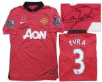Patrice Evra Match-Worn & Signed Shirt From Manchester United