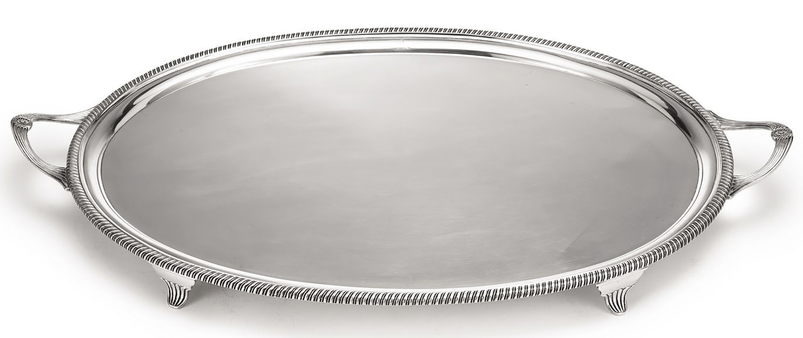 Lot Detail Silver Tray In The King George Iii Style By