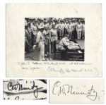 Admiral Chester Nimitz Twice-Signed 14 x 11 Photo of the Japanese Surrender