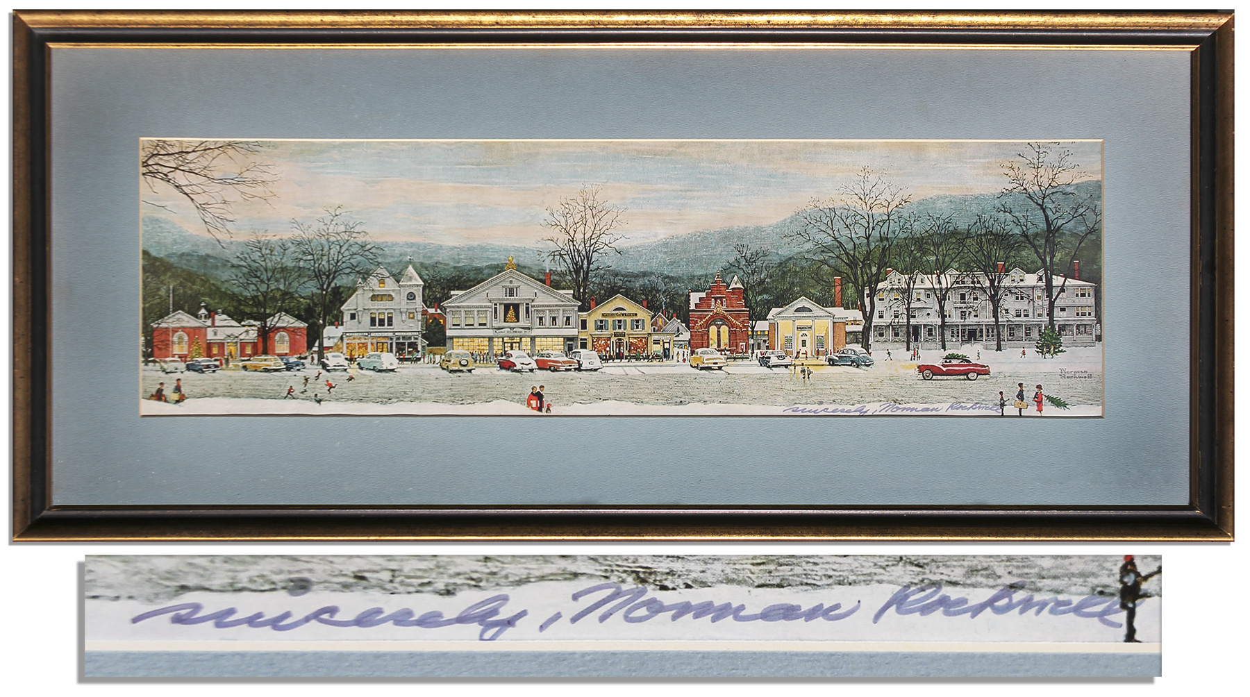 Lot Detail - Norman Rockwell Signed Print of His Beloved Piece ...