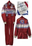 Early Kyle Petty Race-Worn & Signed NASCAR Suit From 1984