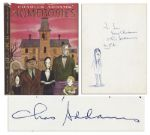 Rare Charles Addams Hand Drawing of Wednesday Addams -- Signed Within the First Printing of His Book Homebodies