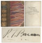 P.T. Barnum Struggles and Triumphs Signed