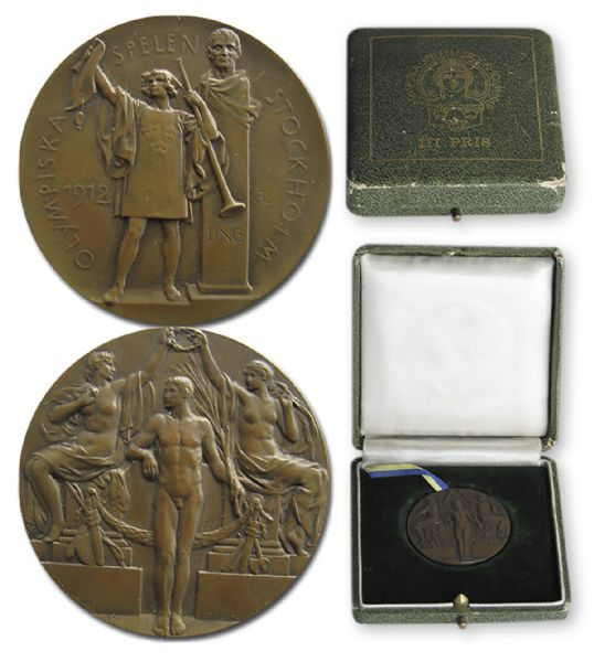 Bronze Medal From the 1912 Summer Olympics, Held in Stockholm, Sweden