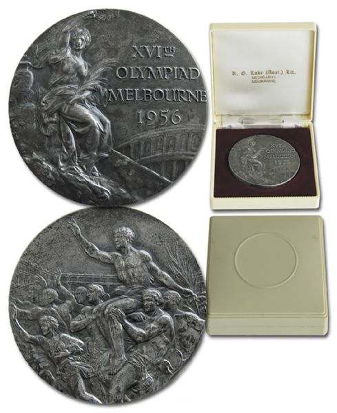 Silver Medal From the 1956 Summer Olympics, Held in Melbourne, Australia