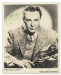 Woody Herman Signed 8 x 10 Photo -- Signed in Bold Green Ink, To Wesley / Best Always / Woody Herman -- Very Good