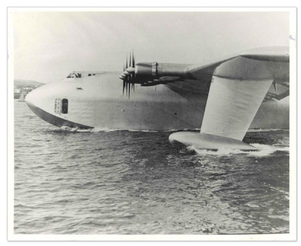 Original Photo of the Howard Hughes H-4 Hercules ''Spruce Goose'' -- Taken 2 November 1947 -- 10'' x 8'' Glossy Photo in Near Fine Condition