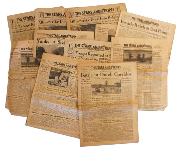 ''The Stars and Stripes'' Newspapers -- September 1944 -- ''Yanks at Siegfried Line''
