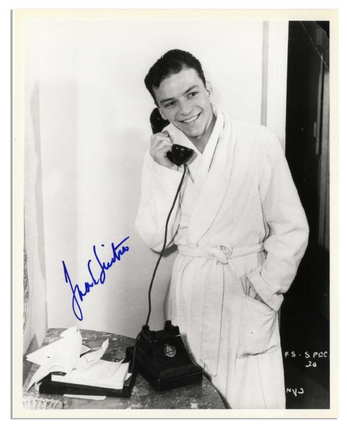 Intimate 8'' x 10'' Signed Photo of Frank Sinatra
