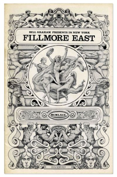 Fillmore East Concert Program From 29 March 1969 -- Promoting Steppenwolf, Julie Driscoll, John Hammond & More