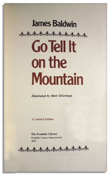 James Baldwin Signed Limited Edition of His ''Go Tell It on the Mountain''