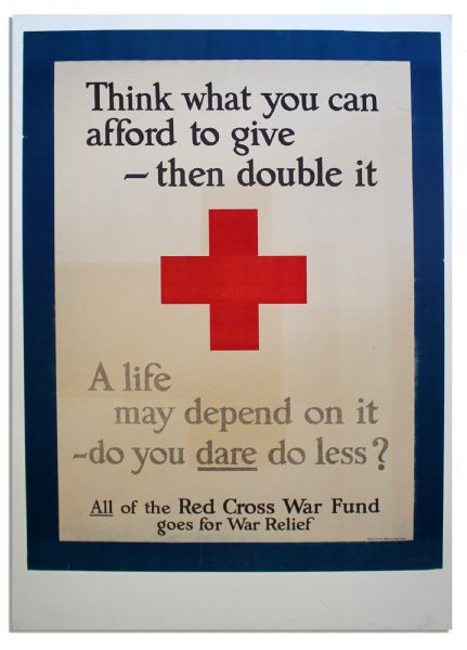 Red Cross Poster From World War I
