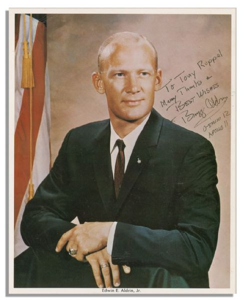 Buzz Aldrin 8'' x 10'' Signed Photo -- Early, Boyish Portrait of the Astronaut