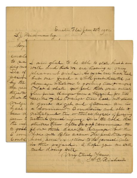 Lincoln Assassination Letter From Policeman Who Hunted Conspirators -- ''...as to the...disposition of the remains of J. Wilkes Booth...''