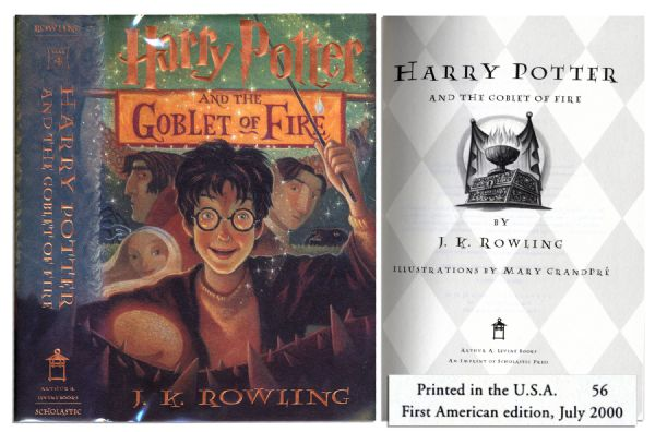 ''Harry Potter and the Goblet of Fire'' -- First American Edition, First Printing
