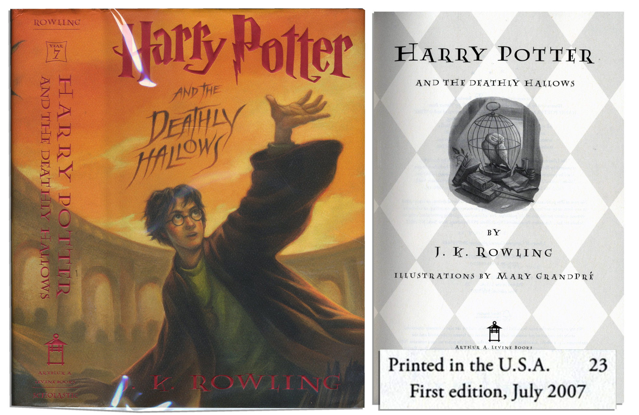 Harry Potter Book First Edition ~ Lot detail harry potter and the deathly hallows