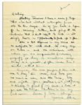 Eisenhower WWII Autograph Letter Signed -- ...I have a series of trips that will last without interruption from six to ten days...as to subjects to write about. So many things are taboo...