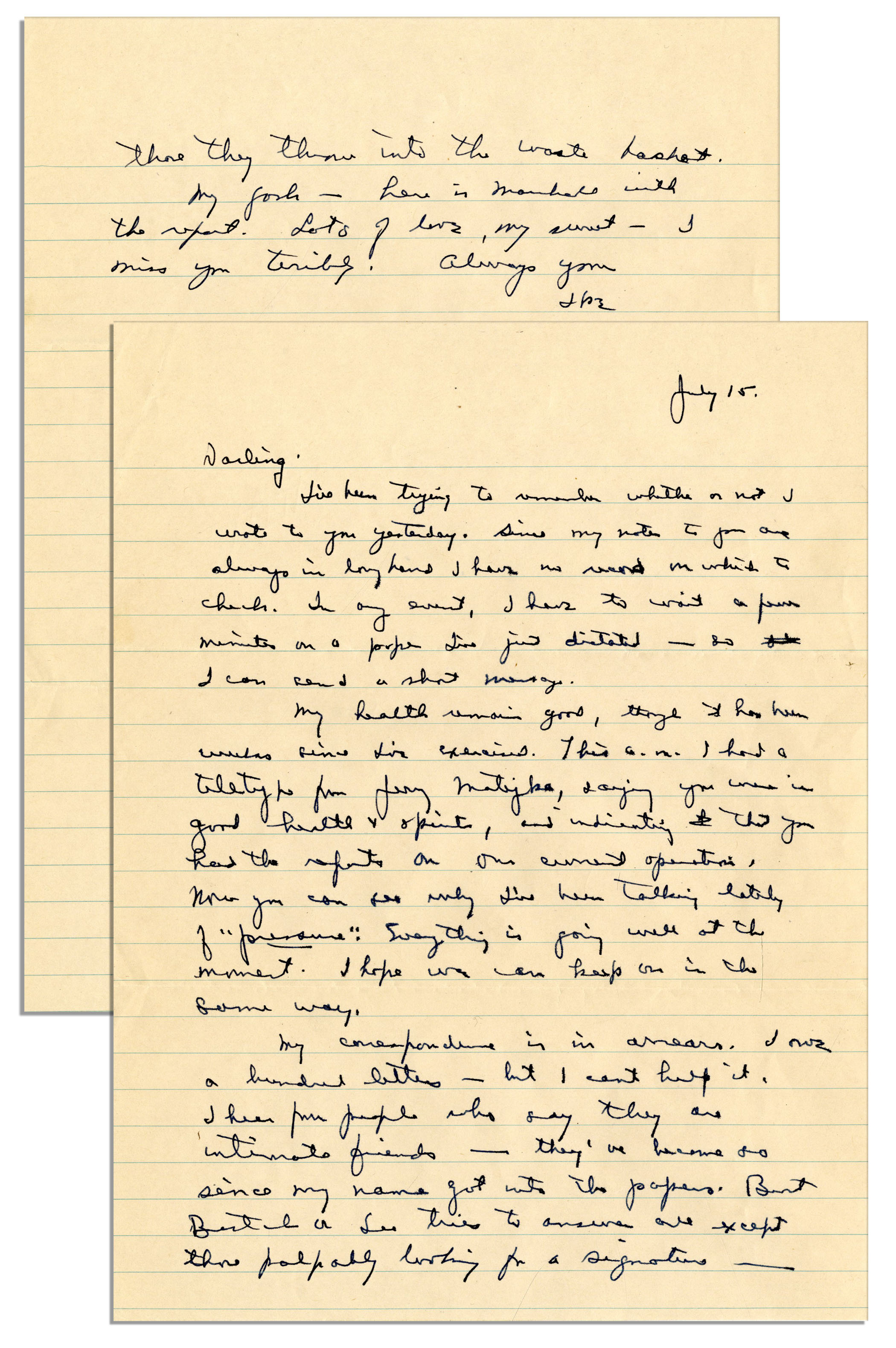 Lot Detail Eisenhower WWII Autograph Letter Signed e Month