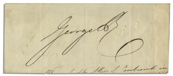 Very Large Signature of King George IV of Hanover