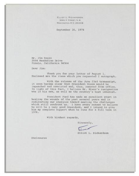 elliot richardson resignation letter - 28 images - american scraps ...