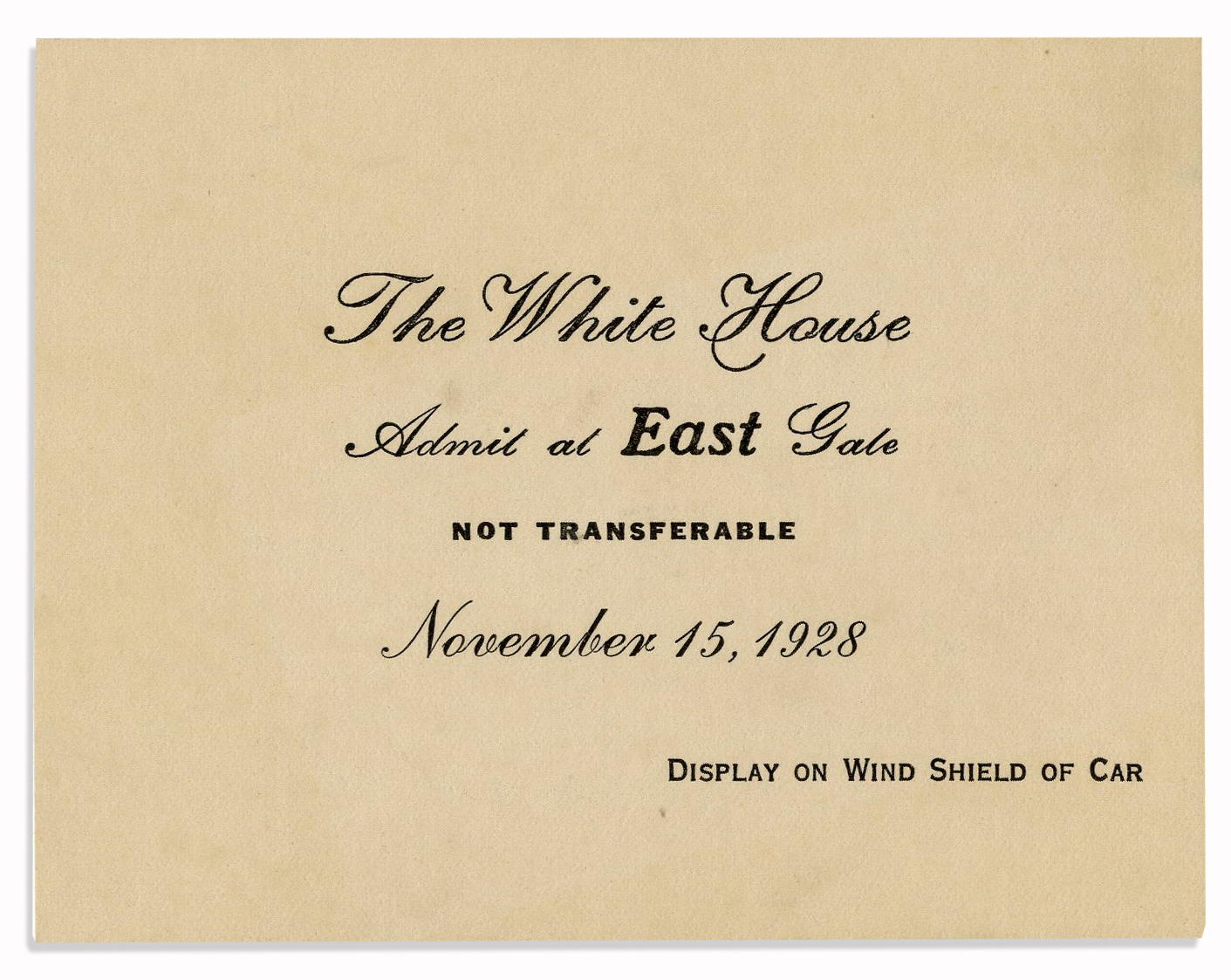 Lot detail calvin coolidge invitation to dinner at the white house calvin coolidge invitation to dinner at the white house stopboris Choice Image