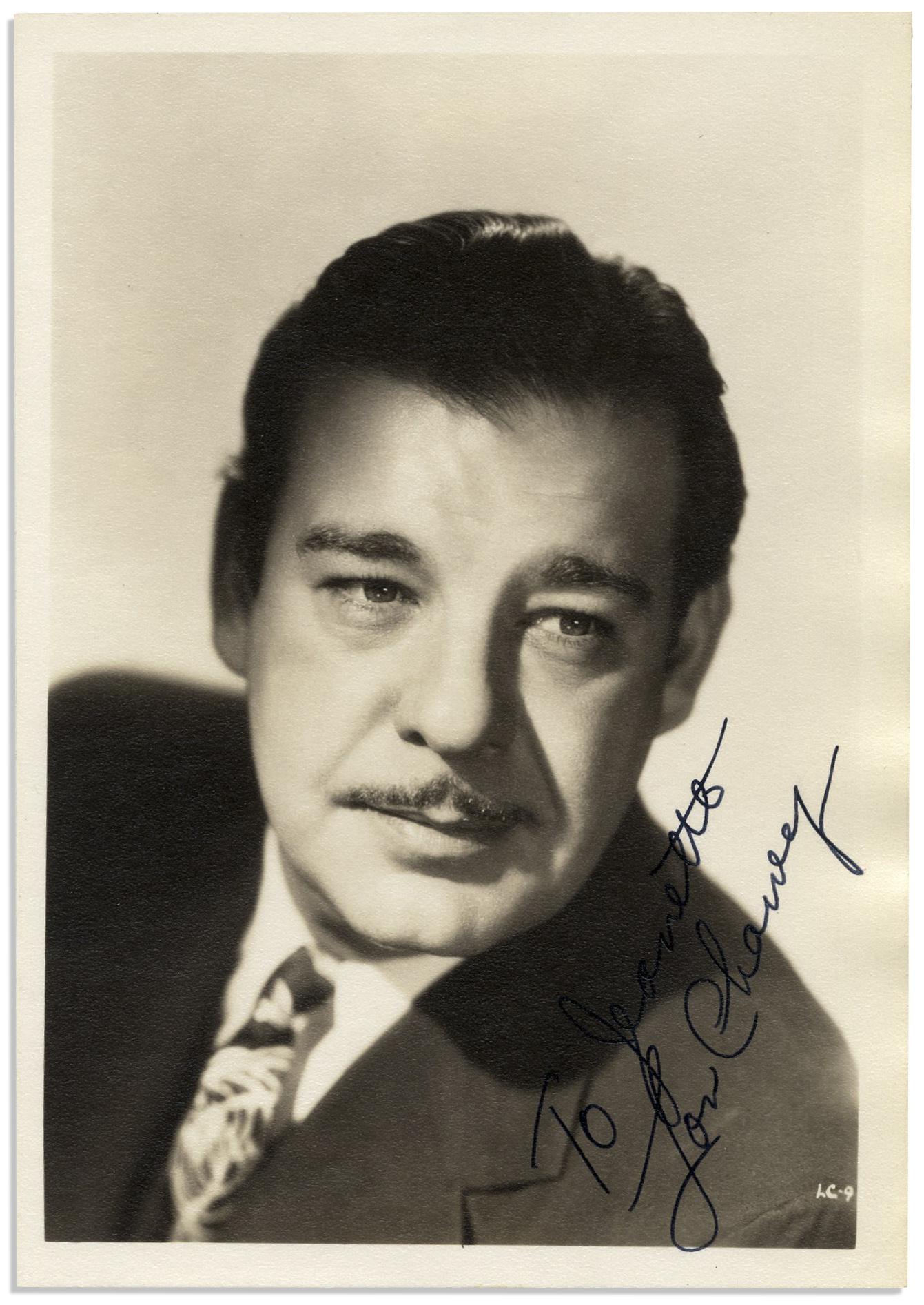 Lot Detail Frankenstein Actor Lon Chaney Jr Signed Photo